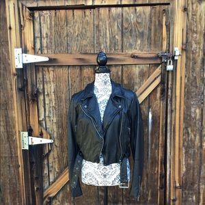 Free People leather moto jacket
